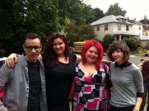Fred Armisen, Carrie, Lauryn and me